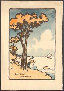 George-Auriol-Menu-pour-les-Cent-Bibliophiles-Photolithographie-1923