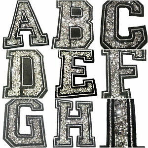 Image is loading embroidered-iron-on-sew-on-glitter-strass-letters-