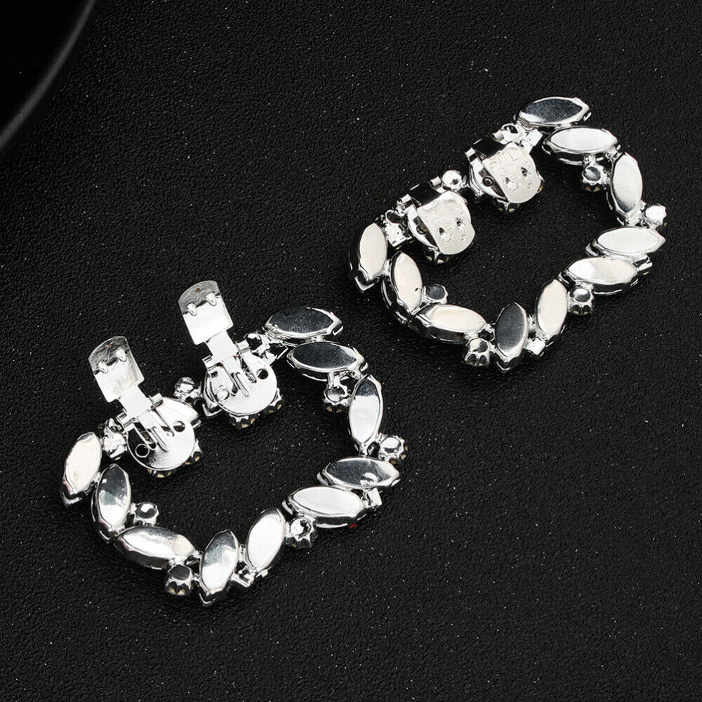 1 Pair Shoe Buckles Beautiful Crystal Shoe Clip Buckle for Banquet Wedding