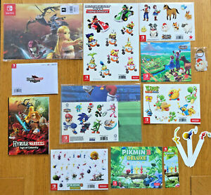 Mario Pikmin Yoshis Hyrule stickers magnets posters cloths cards NINTENDO SWITCH