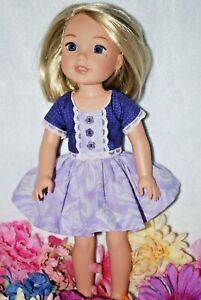 "HANDMADE DOLL CLOTHES FIT A,G 14/"" WELLIE WISHERS /& GLITTER GIRLS 3 PC SET USA."