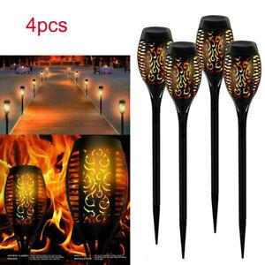 4XSolarleuchte-LED-Garten-Flackernde-Beleuchtung-Solar-Licht-Lampe-Fackel-Flamme