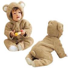 Newborn Baby Boys Girls Fleece Rabbit Bear Warm Romper Clothes Snowsuit 70 US