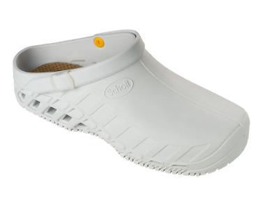 Scholl Clog Evo PPE Class II Footwear Slip On Sandal Crocs White Various Sizes