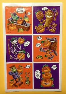 Vintage Hallmark Stickers Dated 1985 Stick R Treats Frankenstein /& Bride