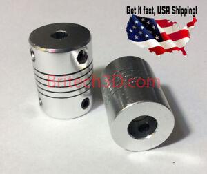 Aluminum Flexible Shaft Coupler 5mm 5mm For CNC Reprap Prusa i3 3D printer etc