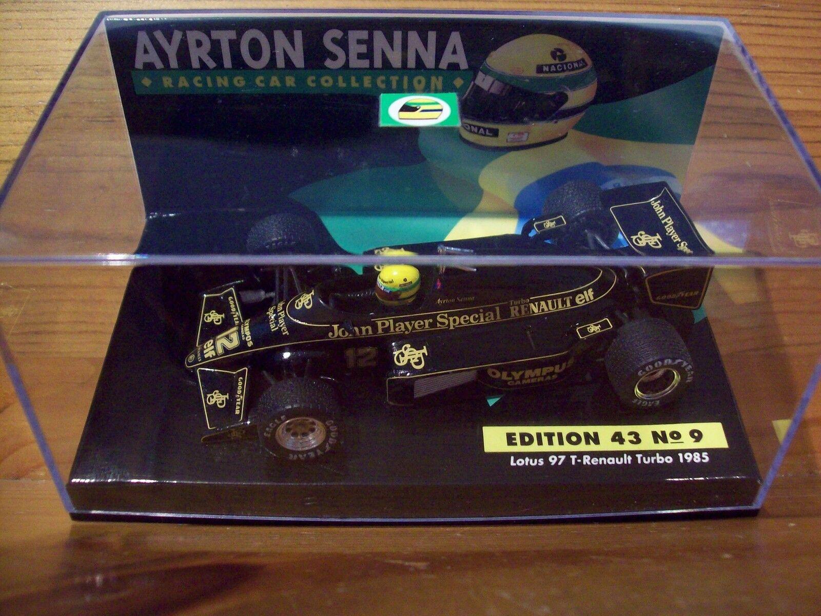1/43 Ayrton Senna nº 09 Lotus 97 T RENAULT RENAULT RENAULT TURBO 1985  Femmeche | France  | Nouveau Produit  | Au Premier Rang Parmi Les Produits Similaires  9bd4ed