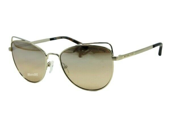 MICHAEL KORS ST.LUCIA MK1035-12128Z Lite Gold / Silver Khaki Flash Sunglasses