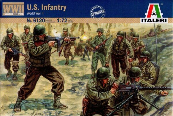 Aggressivo Italeri 6120 - U.s. Infantry (world War Ii) - 1:72 Sii Amichevole In Uso