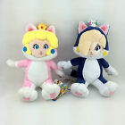 "2X Super Mario Bros 3D World Cat Form Princess Peach Rosalina Soft Plush Toy 7"""