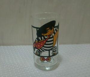VINTAGE 1977 McDONALDS HAMBURGLAR COLLECTOR SERIES GLASS