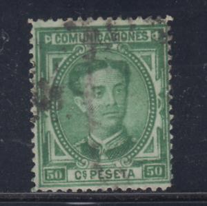 ESPANA-1876-USADO-SPAIN-EDIFIL-179-50-cts-ALFONSO-XII-LOTE-4