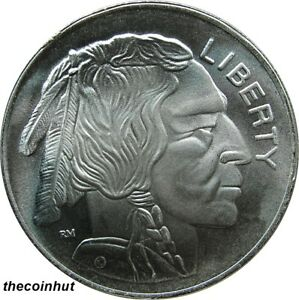 1-oz-999-Pure-Fine-Silver-Buffalo-Indian-Head-Art-Round-Coin-CH5134