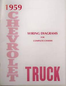 1959 chevy truck wiring diagram manual ebay 79 chevy truck wiring diagram image is loading 1959 chevy truck wiring diagram manual