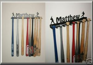 Personalized Baseball Softball Minibat Display- Holds 12 bats!