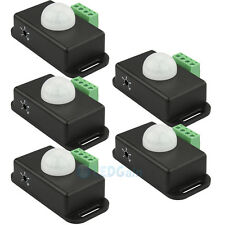 5x Automatic DC12V-24V Body Infrared PIR Motion Sensor Detector Switch For Light