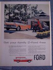 FORD FAIRLANE 500 TOWN VIC / DEL RIO RANCH WAGON- VINTAGE AMER. NEWSPAPER  AD.