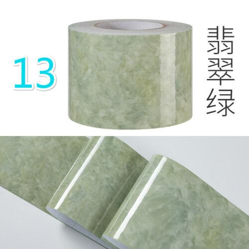 5M Marble Grain Wallpaper Wall Sticker Skirting Border Waterproof Home Decor