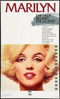 Marilyn Monroe The Lady Behind The Legend Poster (cbs Fox,l987) Bert Stern Photo