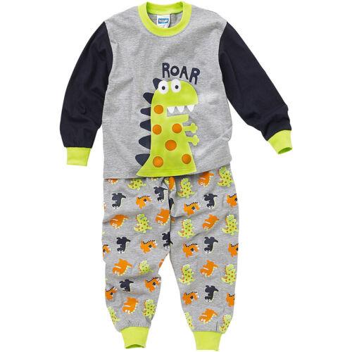Bedlam Younger Boys Dinosaur Roar Long Printed Pyjamas Grey Green Black 2-6 Yrs