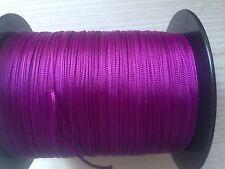 (0,27 €/m) 20m SATTLERGARN - Geflochten - Violett 100% POLYSTER Ø 1,0mm