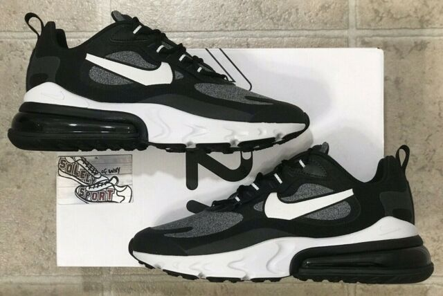 New Nike Air Max 270 React Black White Running AO4971 001 Vapormax 720 Mens