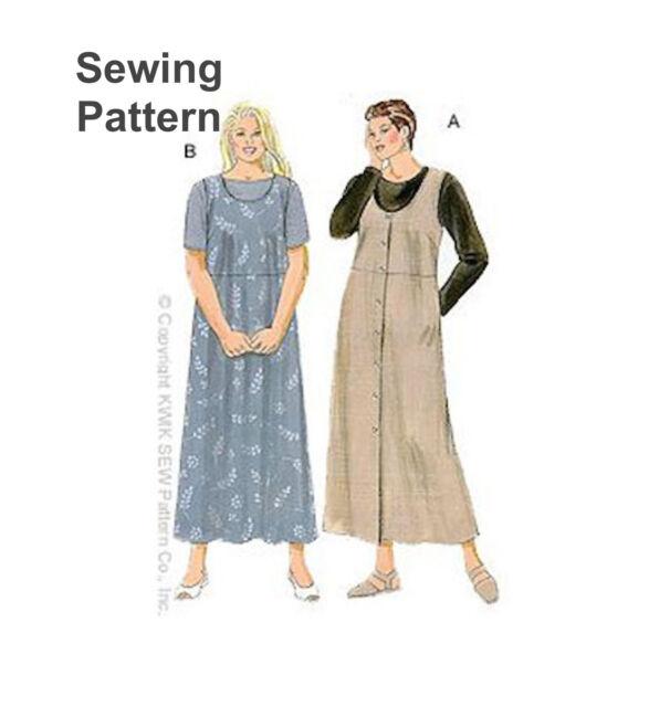 Kwik Sew 2836 Plus Size Shirt T-shirt Top Pinafore Dress Sewing ...