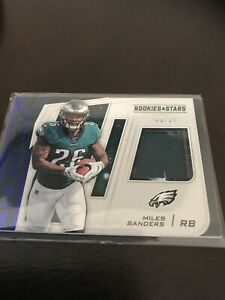 Panini-Rookies-And-Stars-Miles-Sanders-Jersey-Relic-SSP-25-Eagles