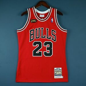huge selection of 6e719 a0bc6 Details about 100% Authentic Michael Jordan Mitchell Ness 97 98 Finals  Bulls Jersey Size 36 S