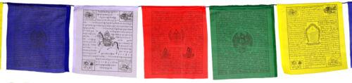 Gebetsfahnen 650 cm Kalachakra Premium Nepal 26 x 27 cm 25 Blatt
