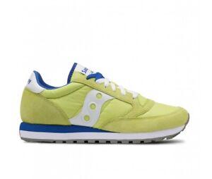 Dettagli su SAUCONY scarpe sneaker uomo JAZZ ORIGINAL S2044 450 giallo blu