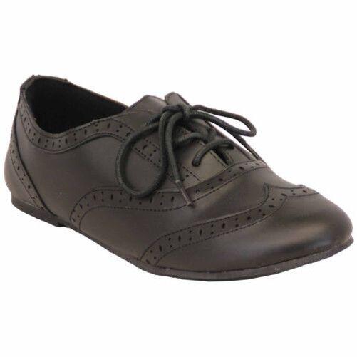 Chaussures École Fille Mat Richelieu Mariage Enfants Allure Cuir Lacet Plat
