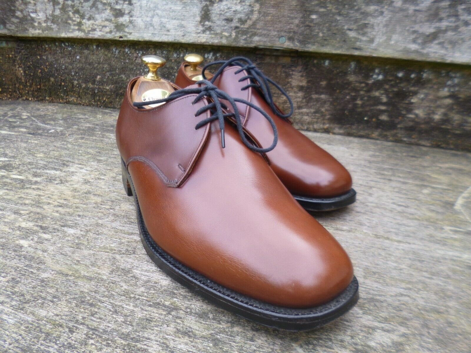CHEANEY   CHURCH DERBY – braun   TAN - UK 7.5 – RYE – SUPERB CONDITION    | Hohe Qualität