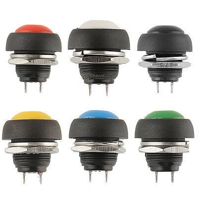 12V Momentary Push Horn Switch OFF Car Auto Autos Vehicle Green Dashboard