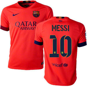 hot sales ffc9d b0664 Details about NIKE LIONEL MESSI FC BARCELONA YOUTH AWAY JERSEY 2014/15.
