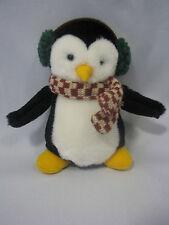 """6"""" Hugsy Plush Penguin McFinn Earmuffs Scarf Debbie Mumm Joey's Friends"""