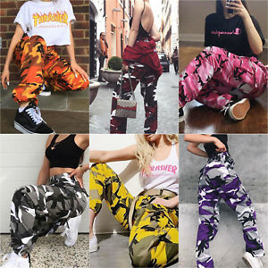 Women-Cargo-Trousers-Casual-Hip-Hop-Pants-Military-Army-Combat-Camo-Hiking-Jeans