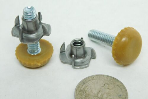"""12 Adjustable Furniture Chair Base Leveling Glides Feet /& T-Nuts 3//4/"""" x1/"""" USA LD"""