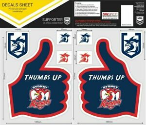 NRL Sydney Roosters Thumbs Up Decal Sticker Car Tattoo iTag