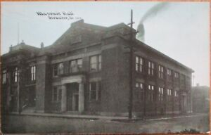 Streator-IL-1910-Postcard-Mason-Masonic-Hall-Illinois-Ill