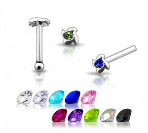 1-22g-6mm-Silver-Clear-CZ-GEM-Nose-Stud-Ring-Pin-N099