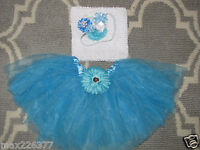 Tutu, Lined Crochet Top & Headband Frozen Elsa Inspired Size 3-5 Yrs