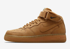 2016 Nike Air Force 1 Mid 07 PRM QS Flax Wheat Size 10.5. 715889-200 ... ad9138f9e
