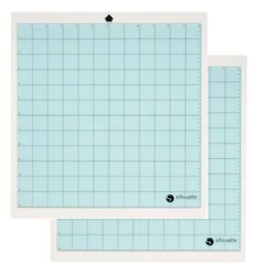 2-Silhouette-Cameo-Replacement-Cutting-Mat-12X12-039-Blue-Tacky-Surface-Cut-Craft