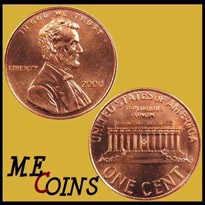 2000-P Philadelphia Mint Lincoln Memorial Cent BU