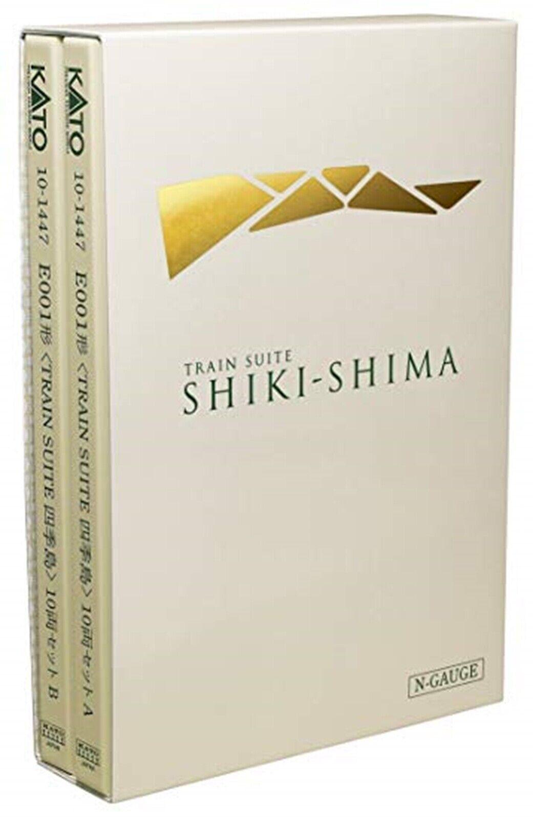 Kato 10-1447 tipo E001 Conjunto de tren Suite Shikishima 10 coches escala N Japón Nuevo