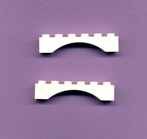 Lego--3455 2 Stück Bogen,Brücke-Rundbogen 1 x 6 x 1 Weiß