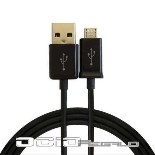 Cable cargador Negro para Samsung Galaxy Express 2 G3815  Micro USB Carga Sync