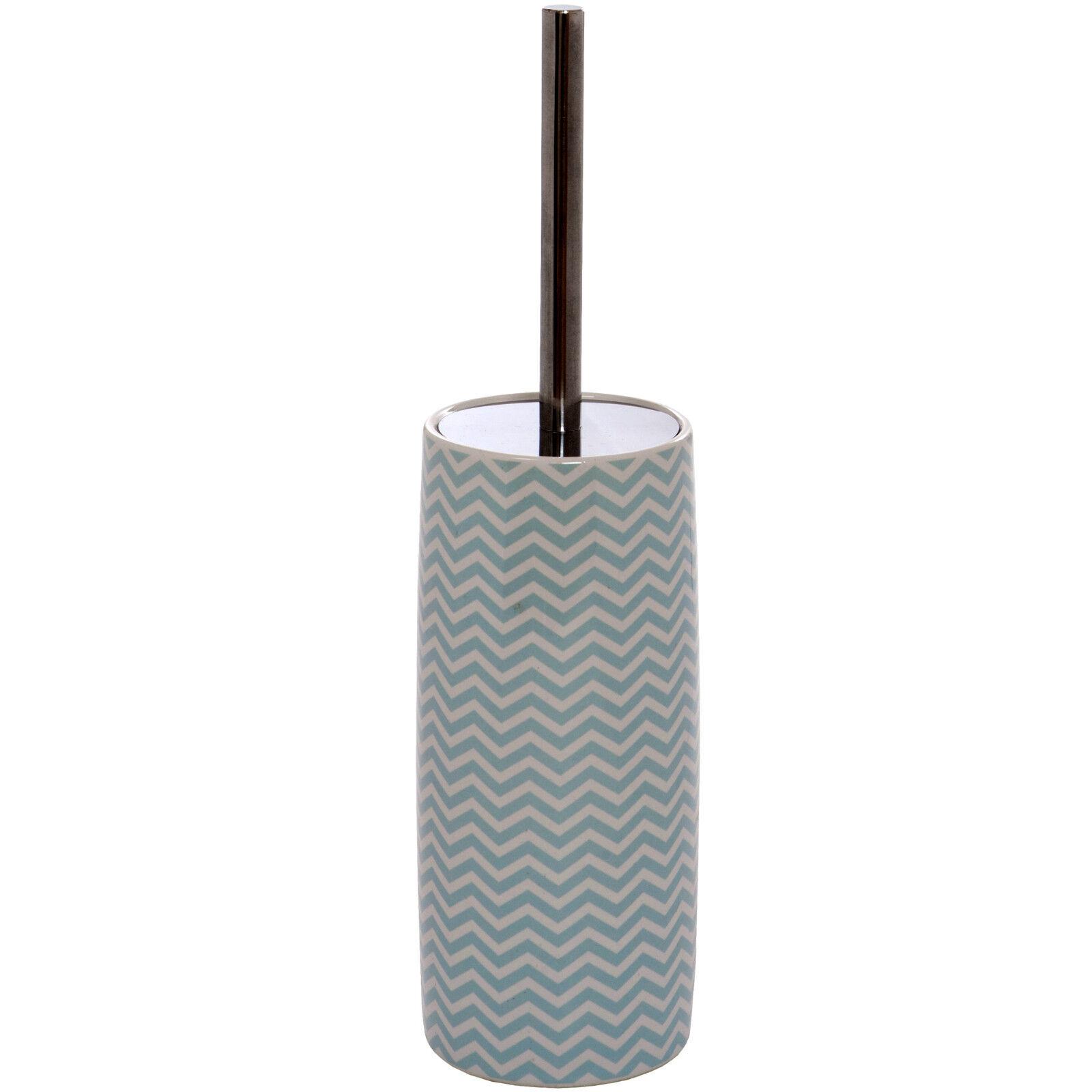 ceramic toilet brush and holder set white turquoise chrome bathroom ebay. Black Bedroom Furniture Sets. Home Design Ideas