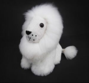 Fluffy White Lion Stuffed Animal Soft Toy Handmade Alpaca Christmas Gift Ideas